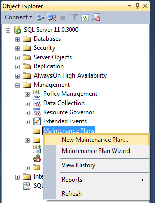 Publications: Scheduled operations at the DBMS level for MS SQL Server