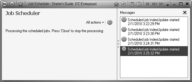 1C:Enterprise 8. Practical Developer's Guide. Lesson 20. Executing Jobs by a Schedule