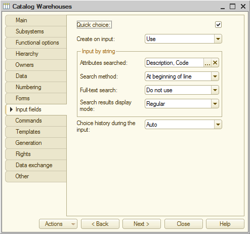 Lesson 3 (2:10). Catalogs / Catalogs with predefined items / In Designer mode / Quick choice property