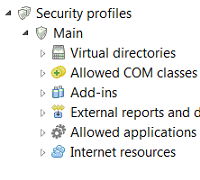 Publications: Security profiles in 1C:Enterprise 8.3
